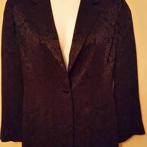 Liz Claiborne Black Brocade Jacket New, with tags
